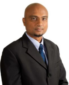 Assuria Director Client Services portrait photo of Vijay Parabdeen.