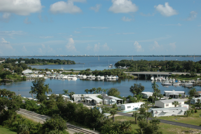 Palm Bay Florida, view of the bay.