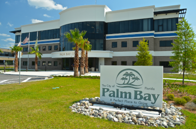 Palm Bay Florida, front of the Palm Bay City Hall building.