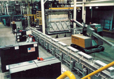 Schaefer group factory floor with equipment and mobile machines.