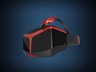 A virtual reality headset.
