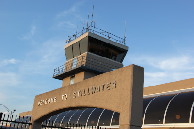 Stillwater Regional Airport control tower and building.