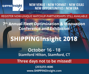 ShippingInsight 2018 banner ad for the 7th Annual Fleet Optimization & Innovation Conference and Exhibition.