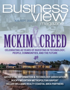 August 2018 issue cover for Business View Magazine