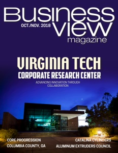 October 2018 issue cover for Business View Magazine